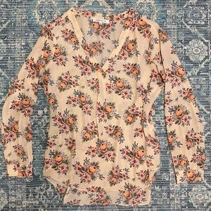 Rose + Olive floral tunic blouse